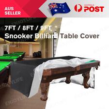 7/8/9ft Pool Snooker Billiard Table Cover Polyester Waterproof Dust Cap Outdoor