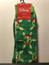 Disney Donald Duck Holiday Green Socks Mens Size 10-13 Crew 1 Pair NEW
