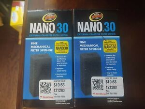 Zoo Med Nano 30 Mechanical Sponge, 3.125 in Lot Of Two