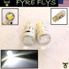 2 Pcs White 3 Watt CREE LED 168 194 2825 Bulbs For Car License Plate Lights b#Q5