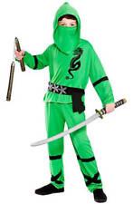 BOY'S GREEN POWER NINJA FANCY DRESS COSTUME