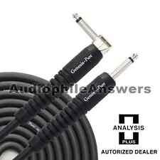 Analysis Plus Genesis Pure BLACK Instrument Cable Straight to 90 Plug 20ft