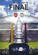 FA CUP FINAL PROGRAMME 2015 Aston Villa v Arsenal