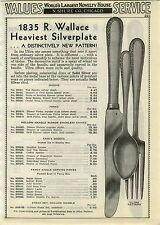 1937 ADVERTISEMENT 3PG  1835 R Wallace Silverware Flatware Ultra Nine 9 Flower
