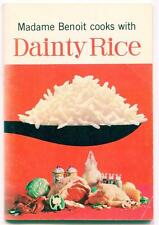 MADAME BENOIT COOKS WITH DAINTY RICE RECIPE BOOKLET DAINTY FOOD CANADA ADVERTISE