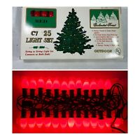 Vintage 25 Enchanted Forest C7 C-7 Red Christmas lights bulbs indoor outdoor