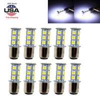 10x Super White T25/S25 1157 Bay15d 18-SMD 5050 LED Tail Brake Stop Light Bulbs