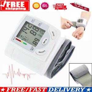 Automatic Digital Wrist Blood Pressure Monitor Heart Rate Tester Measure Machine