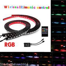 RGB LED Strips Under Car Tube Underglow Underbody Glow System Neon Lights+Remote