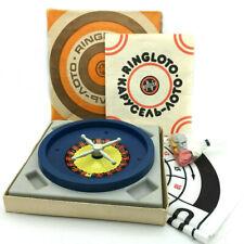 Vintage Roulette Casino Carousel Lotto Soviet Board Game Estonia Children Toy