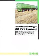 Krone Zweiachs- Dreiseitenkipper DK 225 Emsland, orig. Prospekt 1994
