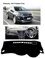 BLACK DASH MAT Dashmats for 2017 Holden Trax RH Drive
