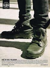 PUBLICITE ADVERTISING 124  2010  PALLADIUM   chaussures bottines homme