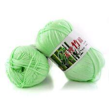New 100% Bamboo Cotton Warm Soft Natural Knitting Water green Wool Yarn 50g