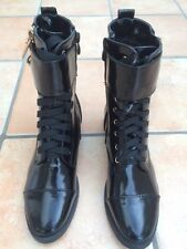 Ladies Combat Military ankle chunky worker Motorcycle boots UK3-6-8 36_39_41