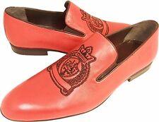 100% Chelsy Top Moderno Italiano Diseñador Mocasines Royal Logo Bordado rojo 41