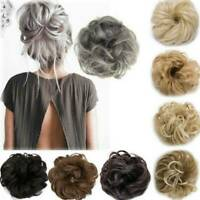 Natural Brown Women Curly Messy Bun Hair Piece Scrunchie Fake Hair Extensions