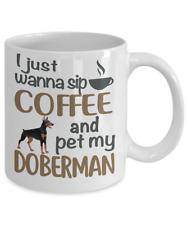 Sip Coffee With Doberman Coffee Mug, Doberman Mug, Doberman Coffee Mug