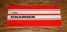 1969 Dodge Charger Owners Operators Manual 69
