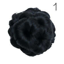 Women Girl Pony Tail Women Clip in/on Hair Bun Hairpiece Extension Hair Party#