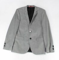 Hugo Boss Mens Blazer Gray Size 36 Two-Button Notched Collar Wool $595 #175
