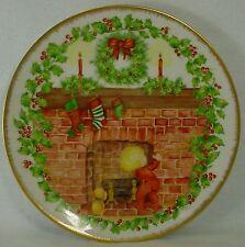 "IRENE EVELYN BECKER china CHRISTMAS THEME #8 Handpainted PLATE 9-1/2"""