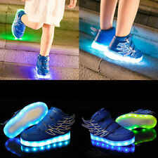 Hot Unisex 7 color LED Light Lace Up Sneaker Shoes USB rechargeable Wings