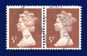 1988 SG X935 5p Dull Red-Brown Pair Stockport 30 NOV 1989 Good Used dhmw