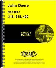 John Deere 316 318 420 L&G Tractor Service Manual (Jd-S-Tm1590)