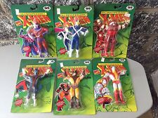 1991 #Just Toys 6X X-Men Bend Ems Bendable Figures # Full Series#Mosc