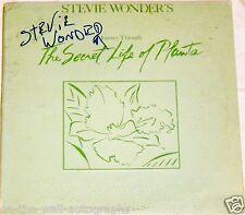 STEVIE WONDER HAND SIGNED AUTOGRAPHED SECRET LIFE OF PLANTS ALBUM! RARE! W/PROOF