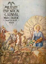 1930 Souvenir Program Us Army War College Military Carnival Wash Dc vtg Illus Vg