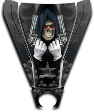 Graphic Decal Kit Canam Commander Can Am Hood Sticker Reaper Revenge Black