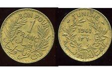 TUNISIE   1 franc  1941     ( bis )