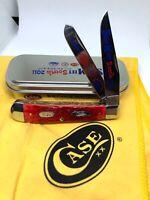 2011 CASE XX Swap Meet South Engraved Bolster Trapper Knife Zippo W@W Rare