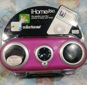 iHome 2Go iH13 Colortunes Portable Protective Case Speakers New Sealed Pink!