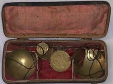Antique 18th century shagreen cased set of scales; in antique condition with sma