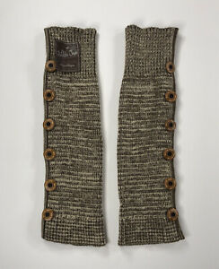 Matilda Jane Leg Warmers Knitted Brown Buttons NWT