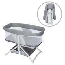 Quick-Fold 2-in-1 Rocking Bassinet, Shadow Stone Gray, Baby Trend