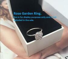 Pink Rose Garden Ring 925 Solid Sterling Silver Flower S925 Size 8 / 56