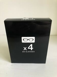 Lot of 4 NEW Samsung 4K HD UHD SUHD 3D Active TV Glasses SSG-5150GB SSG-5100GB