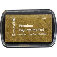 Dovecraft Premium Pigment Ink GOLD METALLIC Stamp Pad Stamping Cardmaking