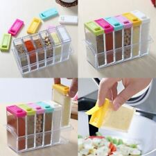 Seasoning Spice Jar  Acrylic  Condiment Box  6pcs/set Kitchen  Storage Boxes