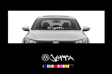 "VOLKSWAGEN JETTA Windshield Banner Decal Sticker volkswagen vw VW 21"" X 5.5"""
