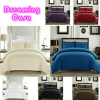 Soft Duvet Cover Comfort 1800 Count Microfiber 3 P Deep pocket Bed Sheet Set H7