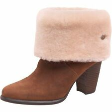 UGG® AUSTRALIA LAYNA CHESTNUT ANKLE BOOTS BOOTS UK 5.5 EUR 38 USA 7 RRP £185