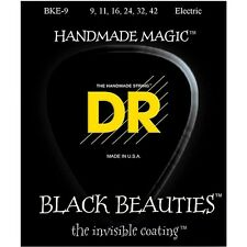 DR Strings BKE-9 Black Beauties Light Electric Guitar Strings (9-42) +Picks