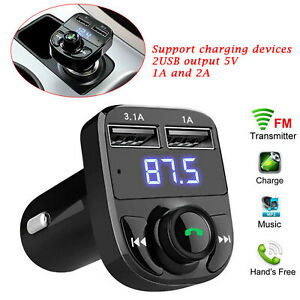 Mp3 Player Wireless Bluetooth FM Transmitter Kit USB CAR X8 Fast Charger Adapter
