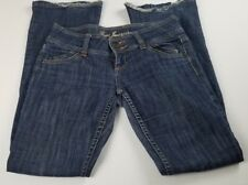 Guess Womens Jeans Sz 26 Riveria Boot Cut Low Rise Dark Wash Destroyed Denim