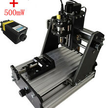DIY CNC Mini Milling Engraving Machine 3 Axis Carving Engraver +500mw Laser Head